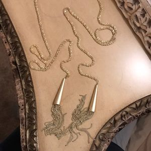 Phara  gold Kendra Scott tassel necklace